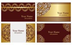 Gouden adreskaartjes Stock Foto's