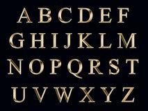 Gouden alfabet Stock Foto's