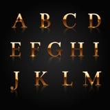 Gouden alfabet Royalty-vrije Stock Fotografie