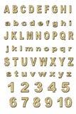 Gouden alfabet Royalty-vrije Stock Afbeeldingen