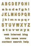 Gouden alfabet Royalty-vrije Stock Foto's