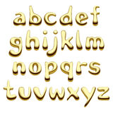 Gouden alfabetbrieven Stock Foto