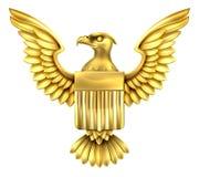 Gouden Amerikaans Eagle Shield Stock Foto's