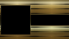 Gouden & Zwart Adreskaartje Stock Foto's