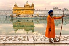 Gouden amritsar Tempel, India. Royalty-vrije Stock Foto's