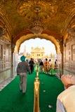 Gouden amritsar Tempel, India. Stock Foto's