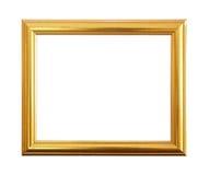 Gouden antiek die kader op zwarte achtergrond wordt geïsoleerd Stock Foto's