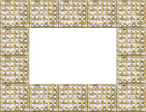 Gouden antiek frame stock foto's