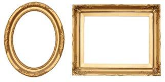 Gouden antieke frames Stock Foto
