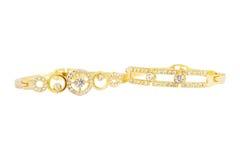 Gouden armband Royalty-vrije Stock Afbeeldingen