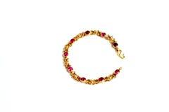 Gouden armband en Gem royalty-vrije stock foto's