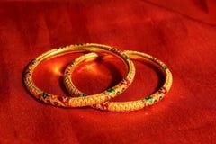 Gouden Armbanden Stock Foto