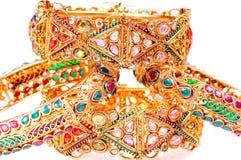 Gouden armbanden royalty-vrije stock foto's