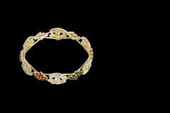 Gouden Armbandjuwelen Royalty-vrije Stock Afbeeldingen