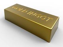 Gouden baar Stock Foto's