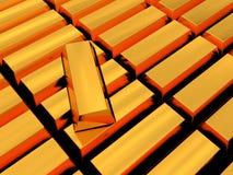 Gouden bakstenen Stock Foto