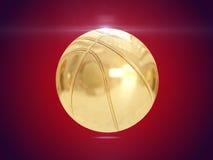 Gouden bal het 3d teruggeven Stock Foto's
