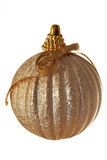 Gouden bal met boog royalty-vrije stock foto's