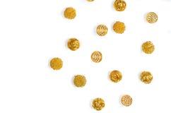 Gouden ballen Stock Afbeelding