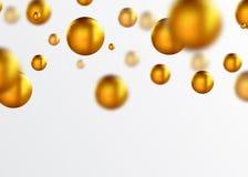 Gouden ballen abstracte achtergrond Royalty-vrije Stock Afbeelding