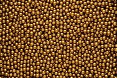 Gouden ballenachtergrond Stock Afbeelding