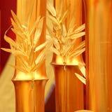 Gouden bamboe stock afbeeldingen