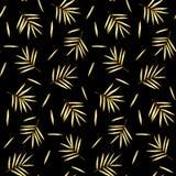 Gouden Bamboe Naadloos Patroon Stock Afbeeldingen