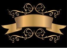 Gouden banner Royalty-vrije Stock Afbeelding