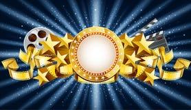 Gouden banner Stock Fotografie