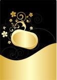 Gouden banner Royalty-vrije Stock Fotografie