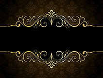 Gouden Bannerkader Royalty-vrije Stock Foto's