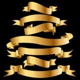 Gouden banners. stock illustratie