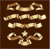 Gouden banners Stock Foto