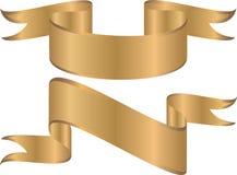 Gouden banners Royalty-vrije Stock Fotografie