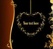 Gouden bannervector Royalty-vrije Stock Foto's