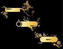 Gouden bannervector Stock Foto