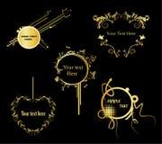 Gouden bannervector Royalty-vrije Stock Afbeelding