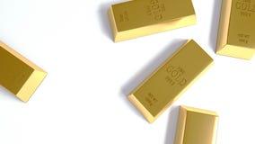 Gouden bar op de Witte Achtergrond Royalty-vrije Stock Fotografie