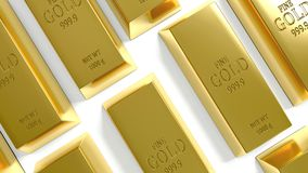 Gouden bar op de Witte Achtergrond Royalty-vrije Stock Foto's