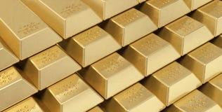Gouden baren stock foto