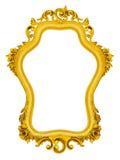 Gouden barok frame royalty-vrije stock afbeelding