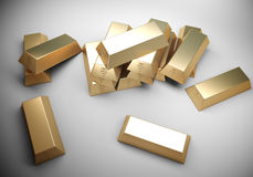 Gouden barsconcept Stock Foto's