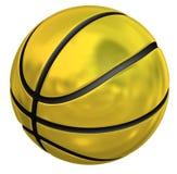 Gouden basketbal Stock Afbeeldingen