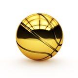 Gouden basketbal Stock Afbeelding