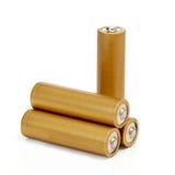 Gouden batterijen Royalty-vrije Stock Foto's