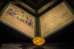 Gouden beeld van de Nobelprijs Royalty-vrije Stock Fotografie