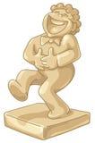 Gouden beeldje van de lachende mens Stock Foto's