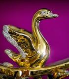 Gouden beeldje van zwaan royalty-vrije stock foto's