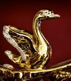 Gouden beeldje van zwaan royalty-vrije stock foto