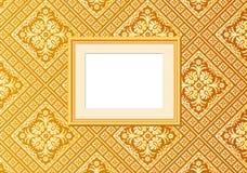 Gouden behangbeeld Royalty-vrije Stock Afbeeldingen